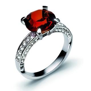 Ženski Oliver Weber Princess Siam prsten sa swarovski crvenim kristalom