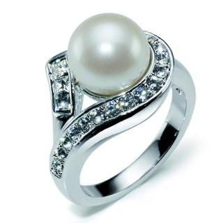 Ženski Oliver Weber Cover Crystal prsten sa belom swarovski perlom