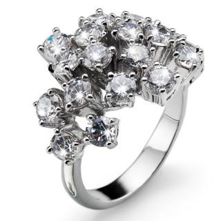 Ženski Oliver Weber Bling Crystal prsten sa swarovski belim kristalom