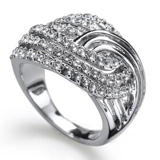 Ženski Oliver Weber Jump Crystal prsten sa swarovski belim kristalom