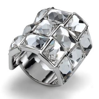 Ženski Oliver Weber Mirror Crystal prsten sa swarovski belim kristalom