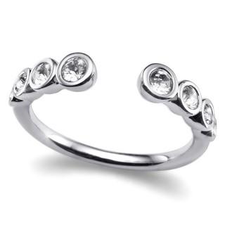 Ženski Oliver Weber Serial Crystal prsten sa swarovski belim kristalom