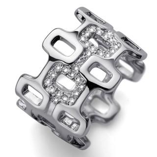 Ženski Oliver Weber City Crystal prsten sa swarovski belim kristalom