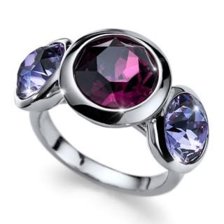 Ženski Oliver Weber Basic Pearl Crystal prsten sa sivom swarovski perlom XL