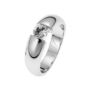 Ženski Oliver Weber Solitaire Crystal Prsten Sa Swarovski Belim Kristalom 55 mm
