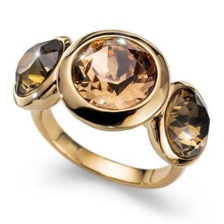 Ženski Oliver Weber Every Gold Light Colorado Topaz Zlatni Prsten Sa Swarovski Žutim Kristalom 62 mm