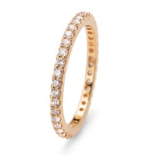 Ženski Oliver Weber Jolie 925Ag Gold Crystal Zlatni Srebrni Prsten Sa Swarovski Kristalom