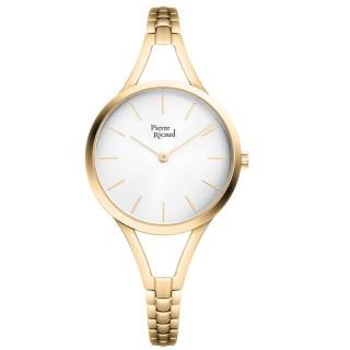 Ženski Pierre Ricaud Quartz Indeks Beli Zlatni Modni Ručni Sat Sa Zlatnim Narukvica Kaišem