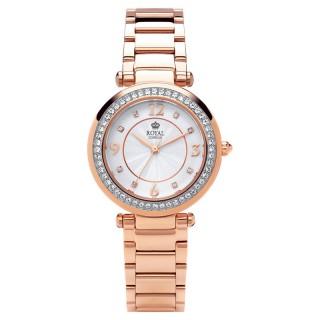 Ženski Royal London Dashing Roze Zlatni Elegantni ručni sat sa metalnim kaišem