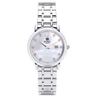 Ženski Royal London Grace Sedef Elegantni ručni sat sa metalnim kaišem