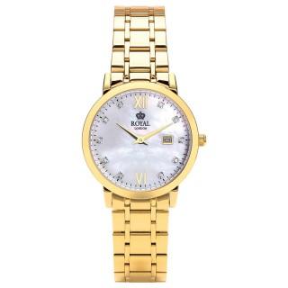 Ženski Royal London Grace Zlatni Sedef Elegantni ručni sat sa zlatnim metalnim kaišem