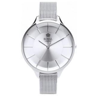 Ženski Royal London Sleek Srebrni Elegantni ručni sat sa srebrnim pancir kaišem