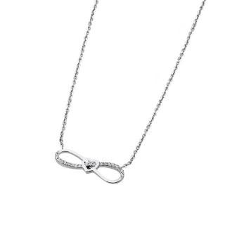 Ženski Srebrni Lančić Lotus Silver Moments Kristalna Beskonačna Ljubav