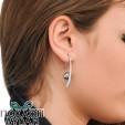 Ženske Majorica Lyra Fish Wire Sive Biserne Srebrne Minđuše 10 mm